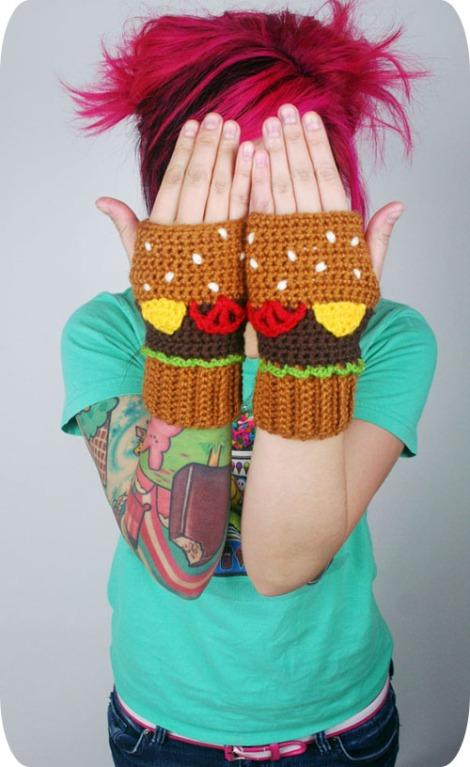 Twinkie Chan | Cheeseburger Fingerless Gloves
