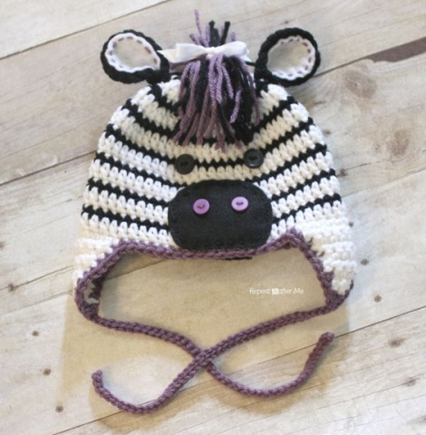 Repeat Crafter Me | FREE Zebra Hat Pattern