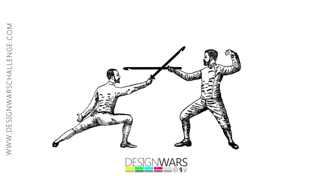 Dueling Dudes | Design Wars 4 Greeting Card